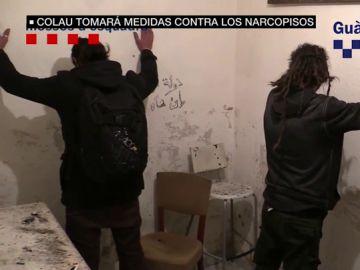 Imagen de un narcopiso en Barcelona