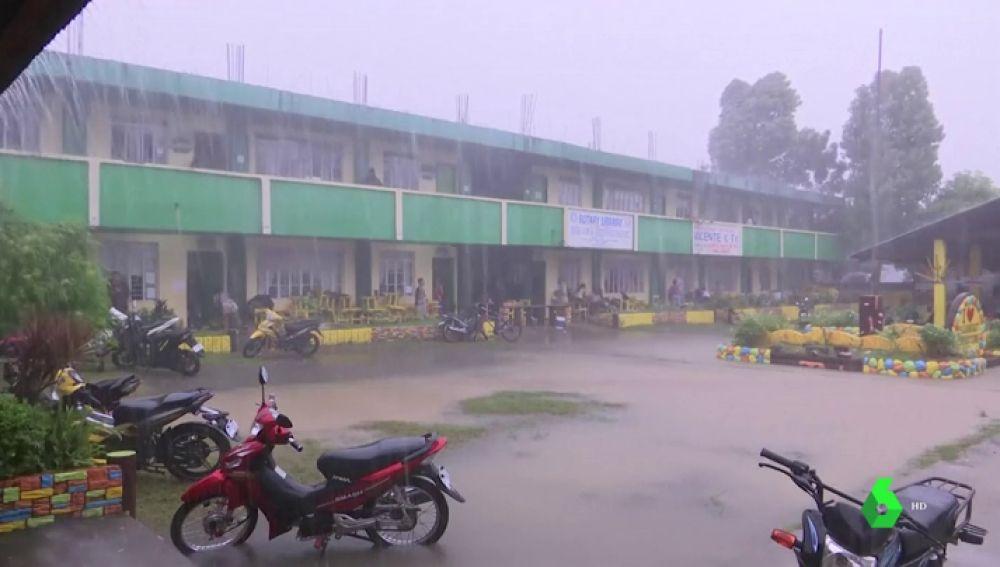 Imagen de las lluvias en Filipinas