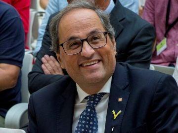 El presidente de la Generalitat, Quim Torra, durante su participación en la presentación del Col·lectiu Ciutadella