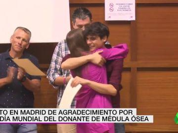 Acto en Madrid de agradecimiento por el día mundial del Donante de Médula Ósea