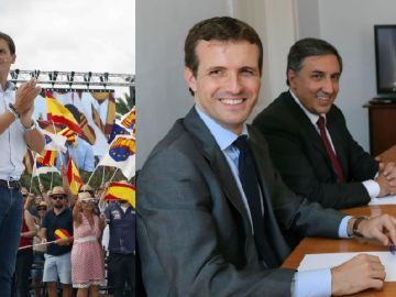 Pablo Casado y Albert Rivera