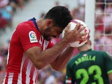 Diego Costa se desespera ante el Eibar