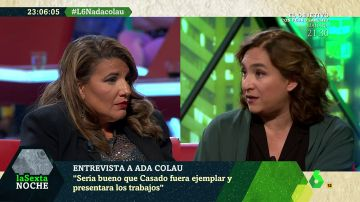 María Claver y Ada Colau en laSexta Noche