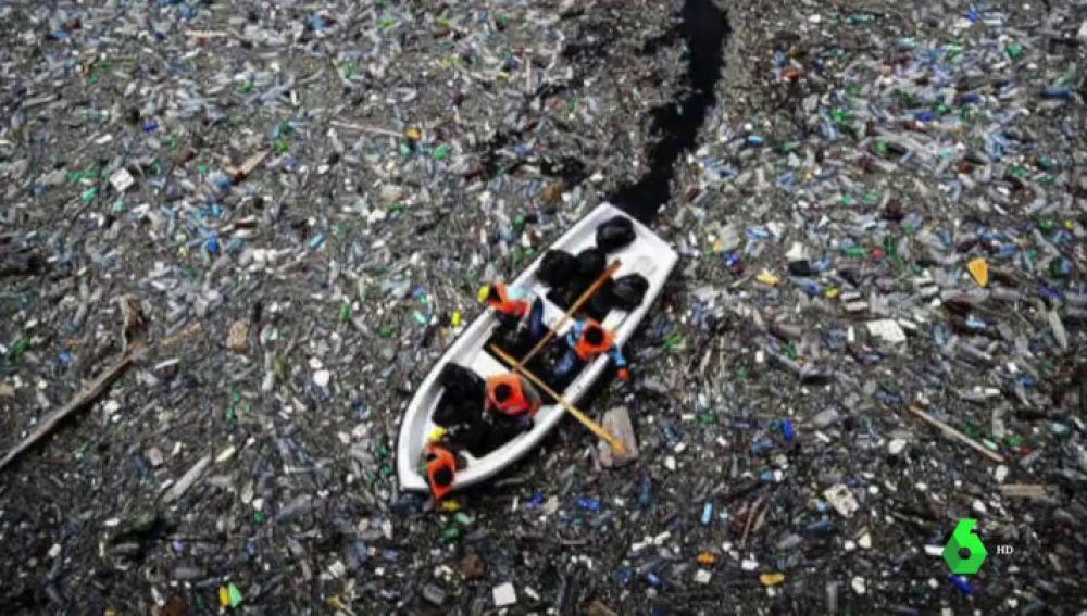 """Científicos y ecologistas investigan la forma de descomponer los dos billones de basuras que forman """"la isla de plástico"""""""