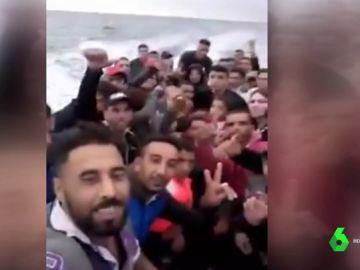 Migrantes a su llegada a España