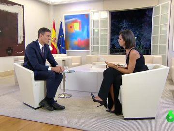 Pedro Sánchez con Ana Pastor en El Objetivo