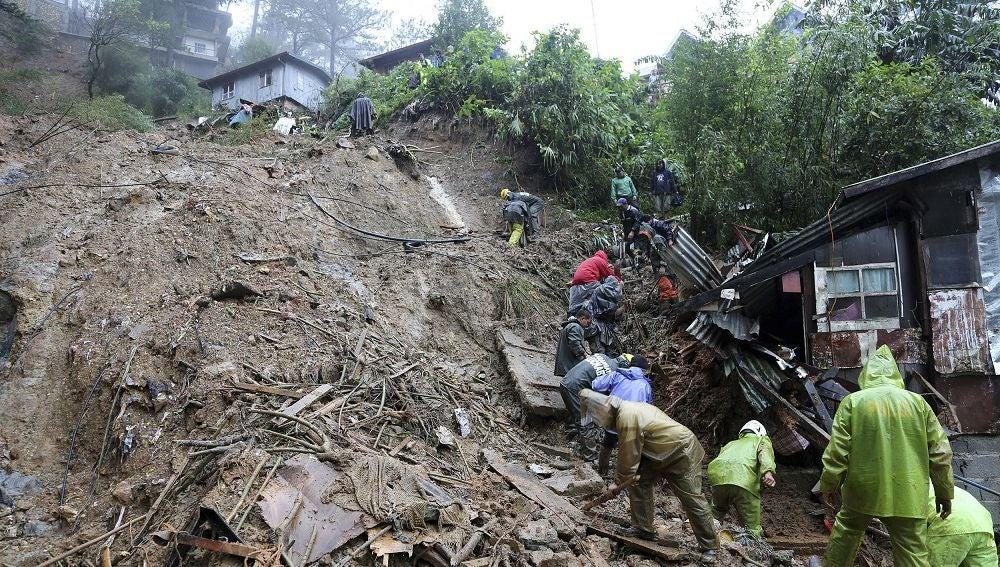 Imagen de las consecuencias del tifón Mangkhut en Filipinas
