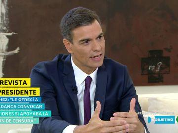 Pedro Sánchez, en El Objetivo