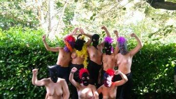 El grupo feminista Nalua de Eibar informa de su protesta en Facebook