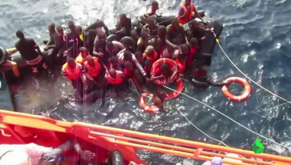 Más de 500 personas rescatadas frente a las costas españolas este fin de semana
