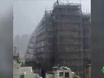 BORRADOR El tifón Mangkhut arrasa con todo a su paso por la costa de China