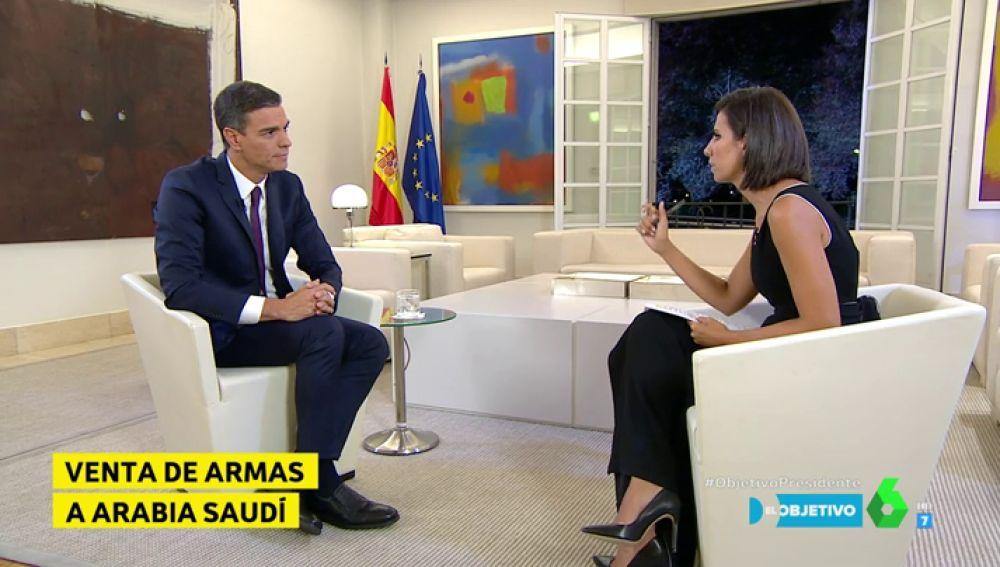 Pedro Sánchez y Ana Pastor en El Objetivo