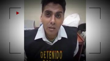 Félix Steven Manrique tras su detención