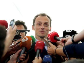 Pedro Duque, en declaraciones a los periodistas