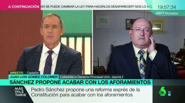 """Juan Luis Colomer: """"Aunque se suprimiera el aforamiento, seguiría existiendo inmunidad parlamentaria"""""""