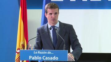 Pablo Casado, en el foro de La Razón