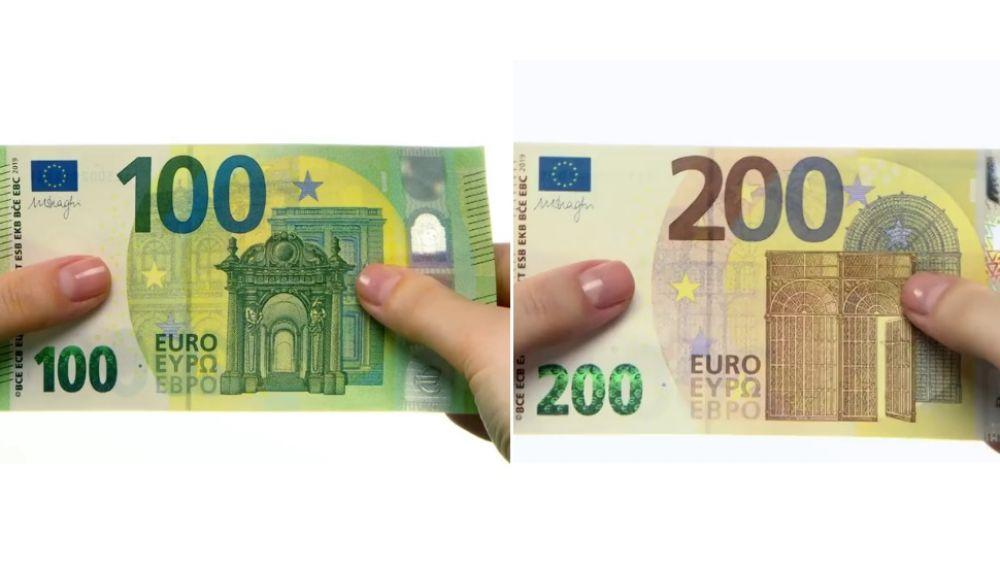 Los nuevos billetes de 100 y 200 euros