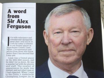 La carta de Ferguson a Liam Miller