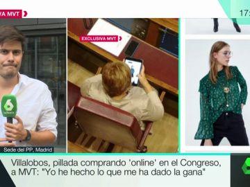 Celia Villalobos comprando ropa online en el Congreso