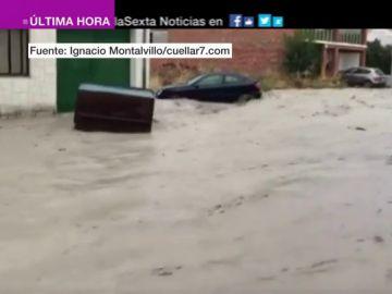 Las lluvias torrenciales provocan graves inundaciones en Segovia y Córdoba