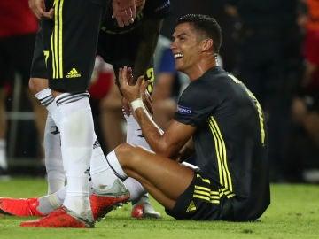 Cristiano Ronaldo, tras su expulsión contra el Valencia