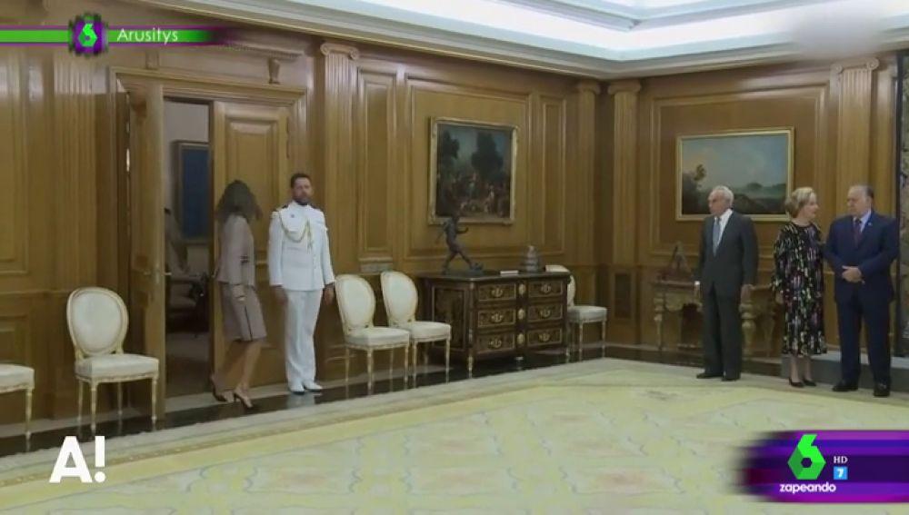 El tropezón de la reina Letizia