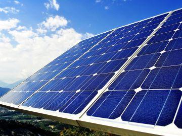 Imagen de archivo de placas solares