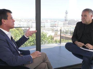 Manuel Valls en su entrevista con Antonio García Ferreras en ARV