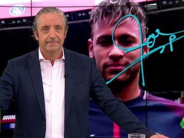 """Josep Pedrerol: """"Aquí te esperamos,Neymar. Pero un consejo: decide de una vez y no marees más""""."""