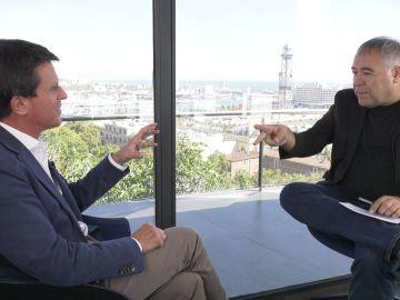 Antonio García Ferreras entrevista a Manuel Valls en Barcelona