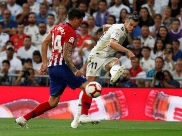 Bale, durante el partido contra el Atlético de Madrid