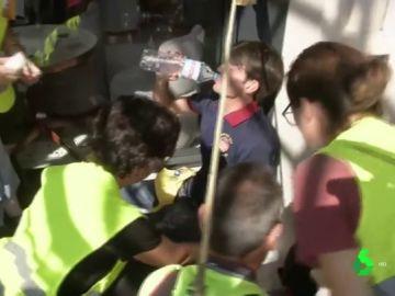 El hombre que agredió a un policía en Barcelona