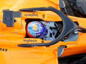 Fernando Alonso, durante el GP de Rusia
