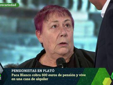 Paca Blanco, pensionista