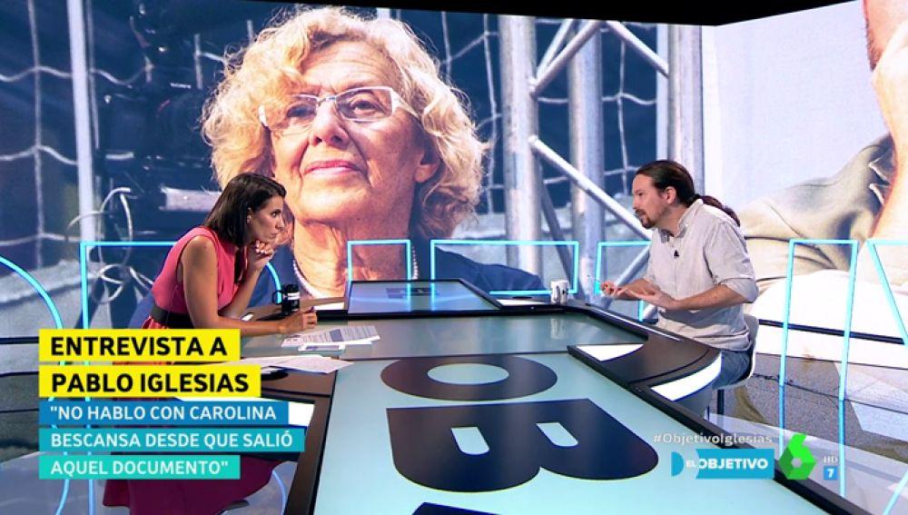 Pablo Iglesias en El Objetivo respondiendo a Ana Pastor