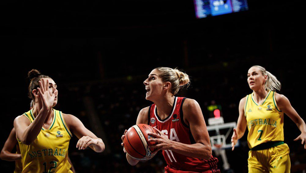 Momento de la final del Mundial de baloncesto femenino entre Estados Unidos y Australia