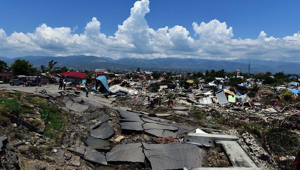 Imagen de Indonesia devastada tras el terremoto y el tsnami