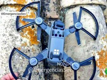 Imagen del dron que se ha estrellado contra la catedral de Sevilla