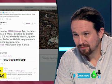 Pablo Iglesias hablando sobre Carolina Bescansa