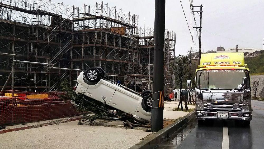 Imagen de las consecuencias del tifón en Japón