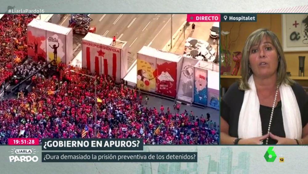 Nuria Marin, alcaldesa de Hospitalet, en Liarla Pardo