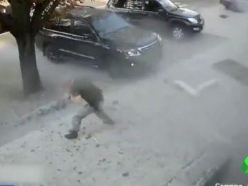 Difunden las imágenes del atentado que mató al líder separatista Alexandr Zajárchenko en Donetsk