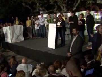 Los discursos de los manifestantes por el aniversario del 1-O