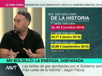 """Rubén Sánchez, sobre las subidas de gas y luz: """"El presidente de Iberdrola ganaba hace poco 43.000 euros diarios, que se aprieten el cinturón"""""""