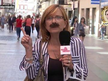 """El Intermedio sale a la calle para conocer a los """"fieles"""" de Aznar: """"Se me apareció una gaviota con su espíritu y ahora llevó su fruto en mi vientre"""""""