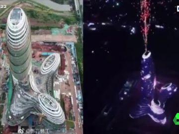 Polémica en China por la forma fálica de un rascacielos recién inaugurado