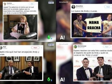 Las creativas reacciones en Twitter a la nueva polémica de Andy y Lucas