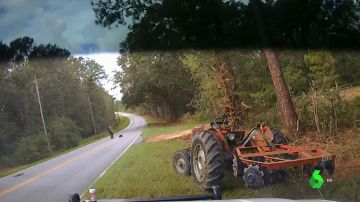 Reducido con una pistola táser tras robar un tractor e intentar huir