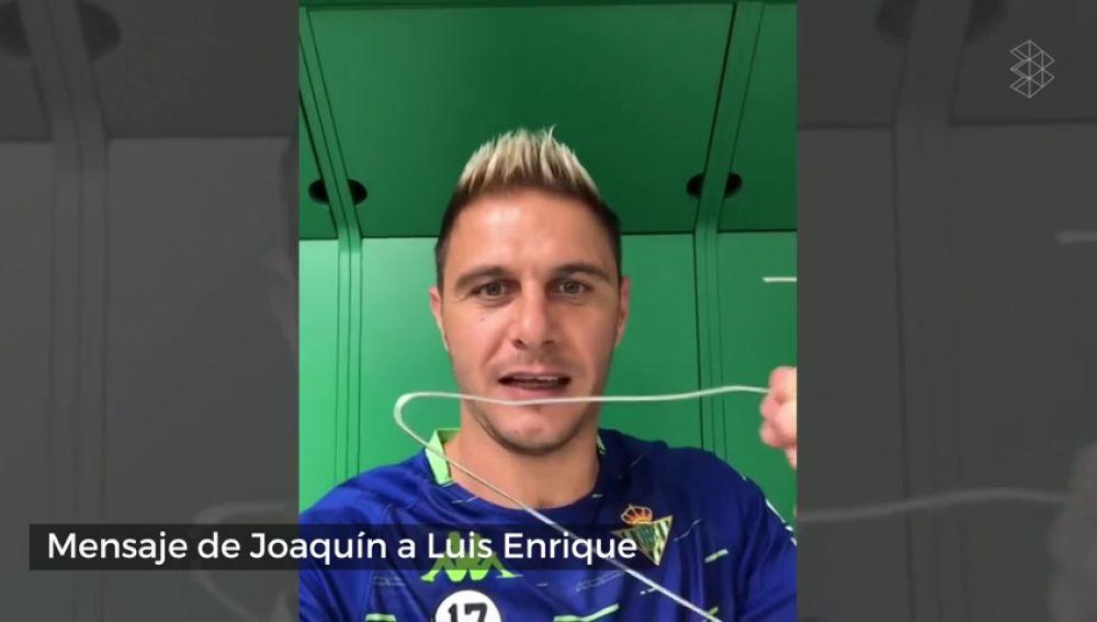 """El mensaje de Joaquín a Luis Enrique tras no ir convocado con España: """"Quillo, la percha está aquí..."""""""