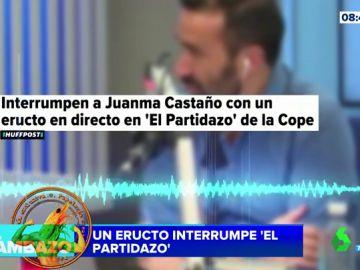 El increíble cabreo de Juanma Castaño al ser interrumpido por un eructo en pleno directo
